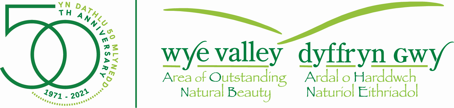 Wye Valley Area of Outstanding Natural Beauty (AONB) logo